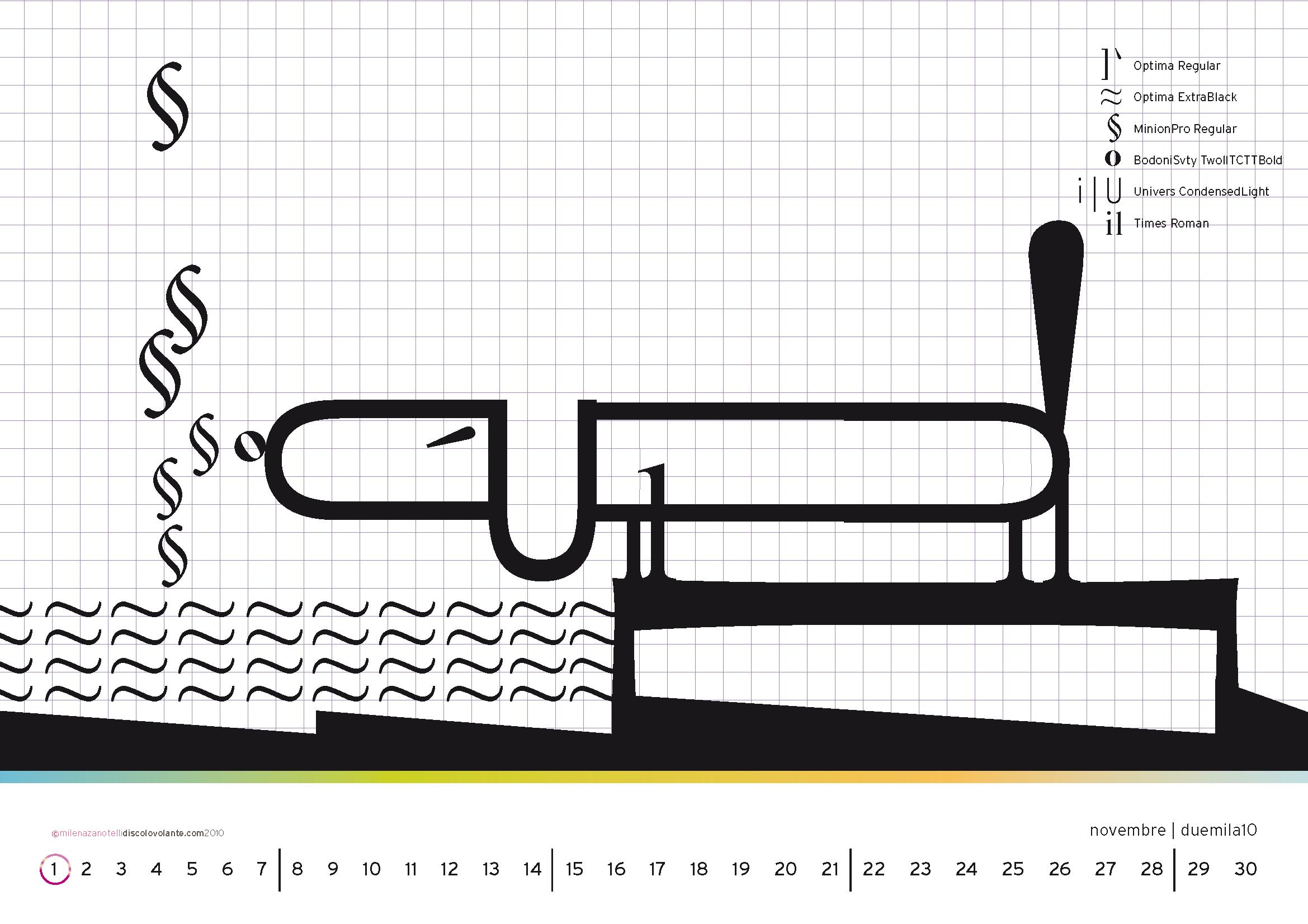 Un calendario di carattere